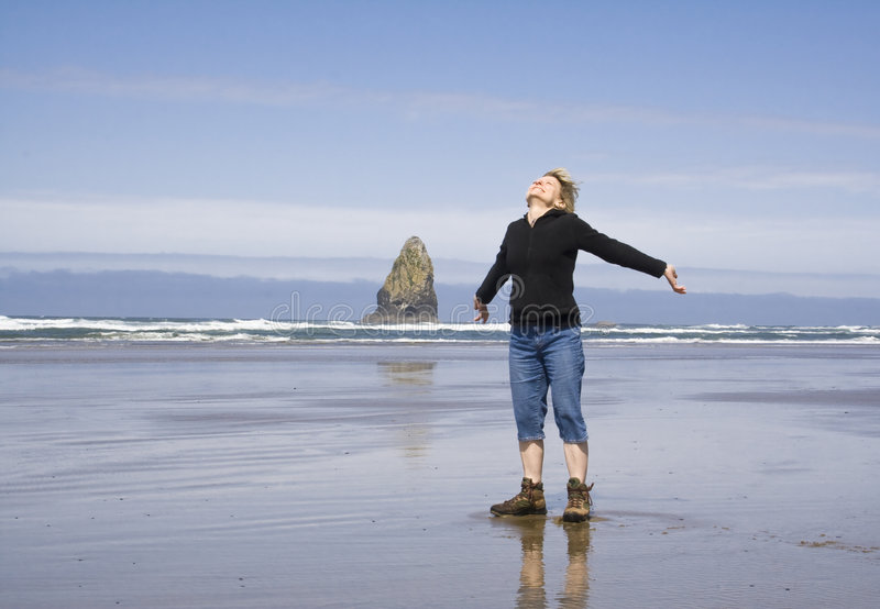 Download Woman On The Beach Royalty Free Stock Photos - Image: 5529148