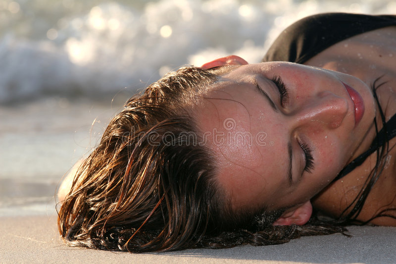 Download Woman on the beach stock photo. Image of coast, shore - 7037090