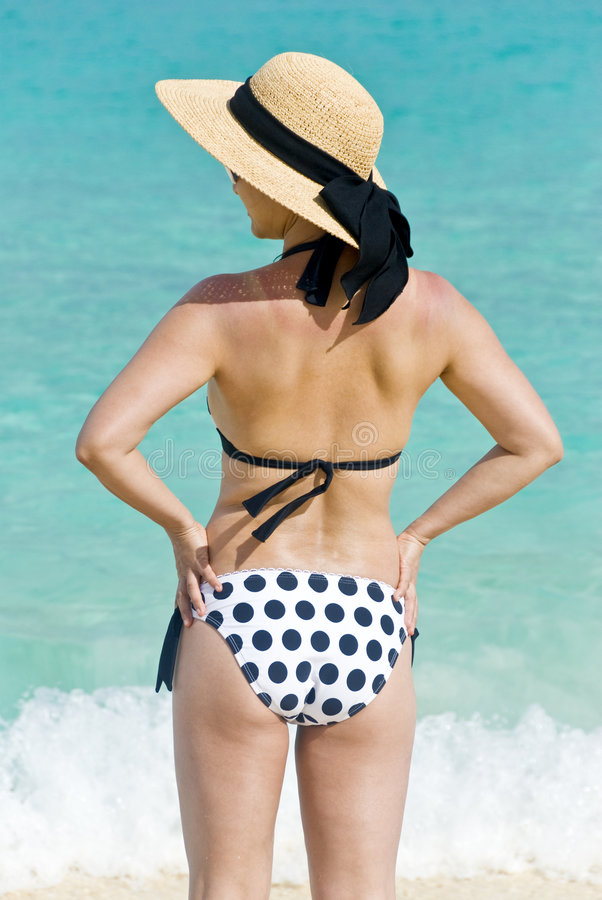 Download Woman on the Beach stock photo. Image of ocean, waves - 9181126