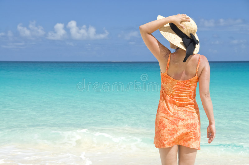 Download Woman on the Beach stock photo. Image of seaside, seashore - 9181136