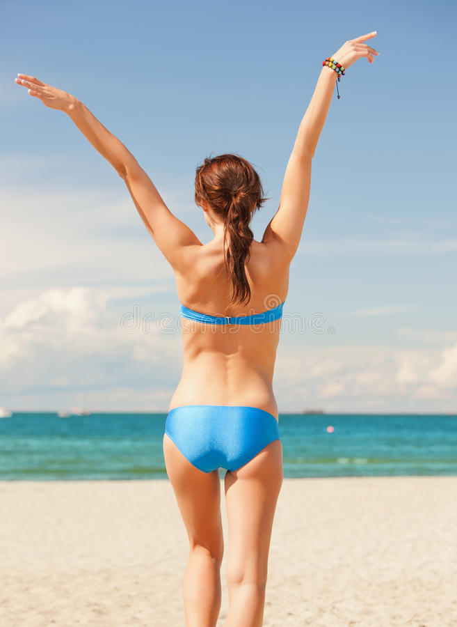 Download Woman on the beach stock photo. Image of sand, lifestyle - 39515382