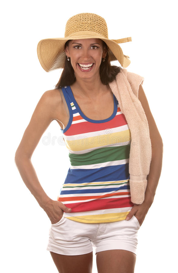 Download Woman in beach wear stock image. Image of playful, pretty - 26017589
