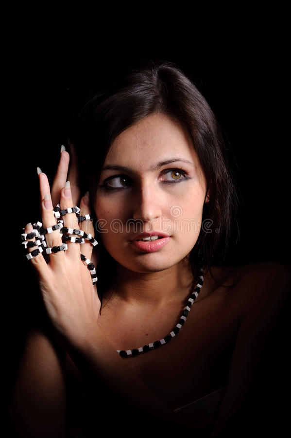 Download Woman with beads stock image. Image of glamour, human - 20773057
