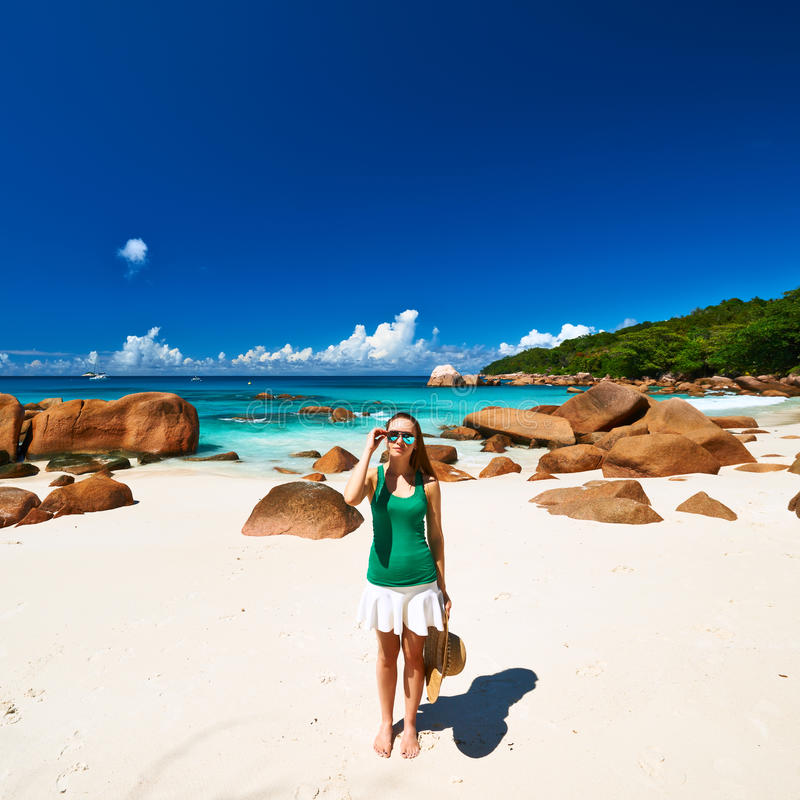Download Woman at beautiful beach stock image. Image of rock, people - 41878855