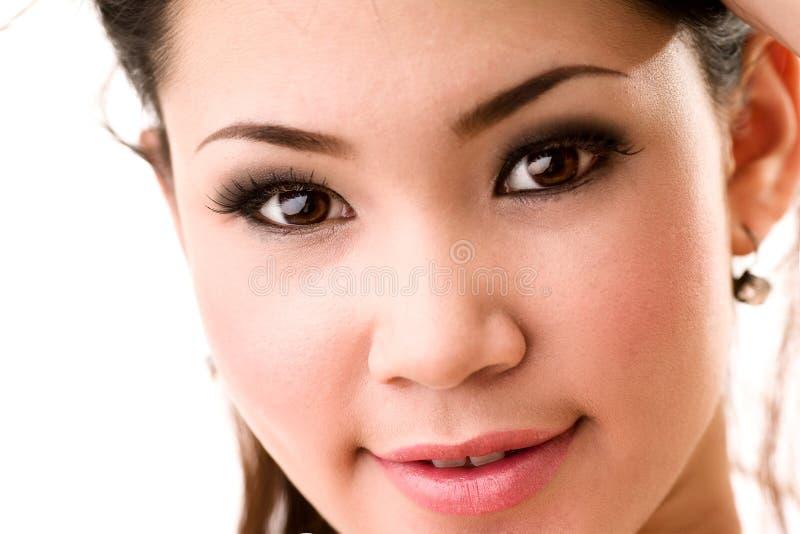 Woman beautiful face stock photos