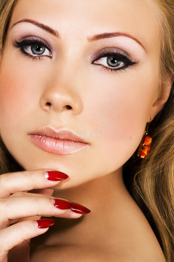 Woman beautiful face royalty free stock photos