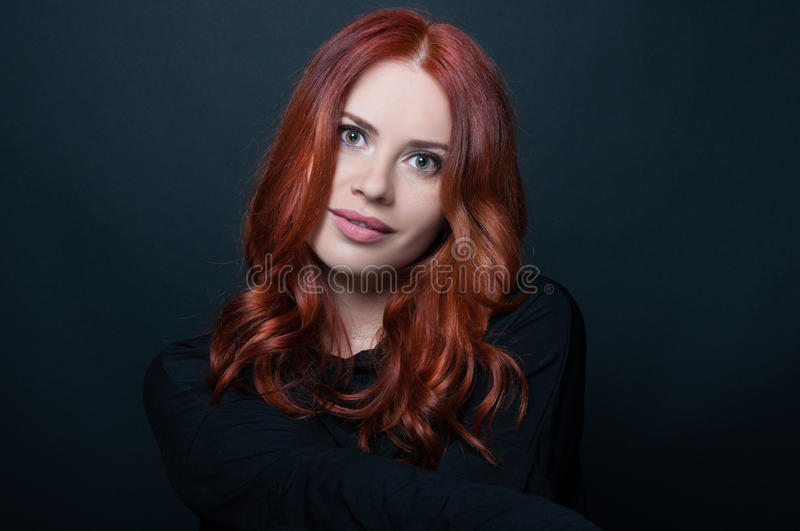 Woman with beautiful face in casual clothes stock photo