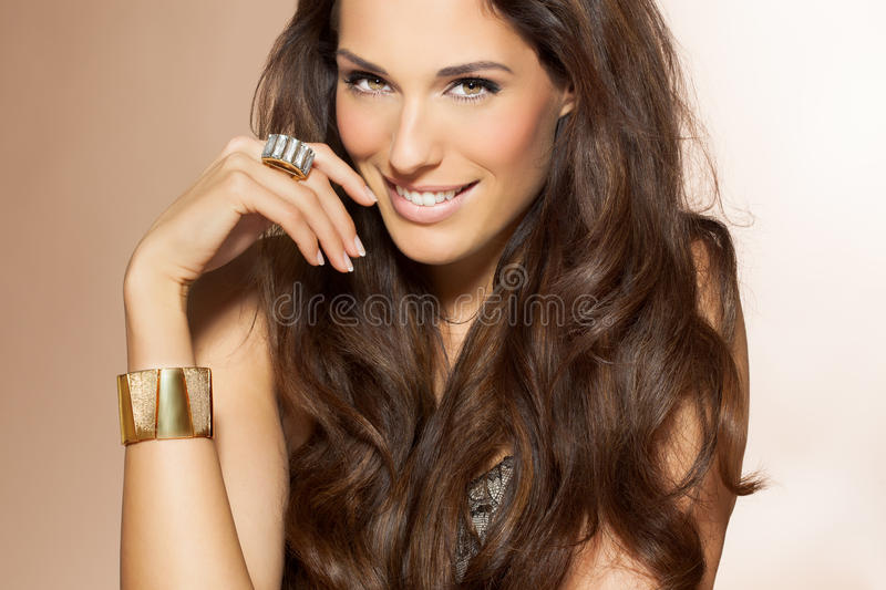 Download Woman With Beautiful Hair stock photo. Image of hispanic - 53752898