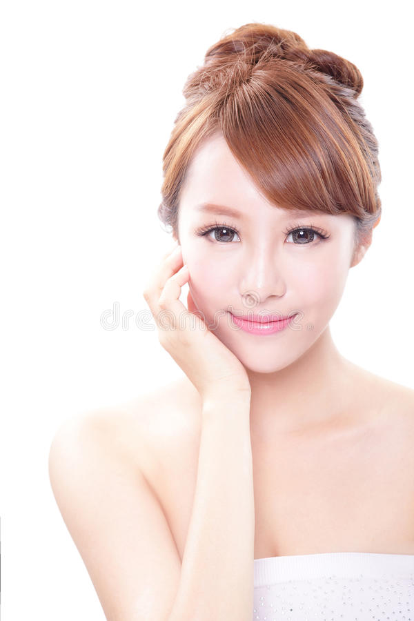 Woman With Beauty Face And Perfect Skin Stock Image