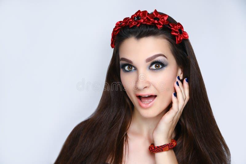 Horror fashion make up royalty free stock photography