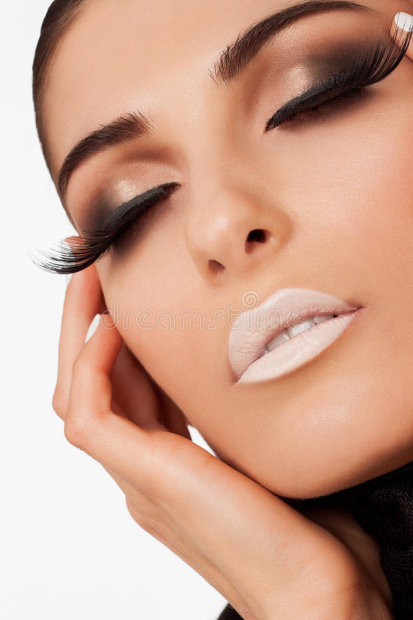 Woman beauty face in studio stock photography