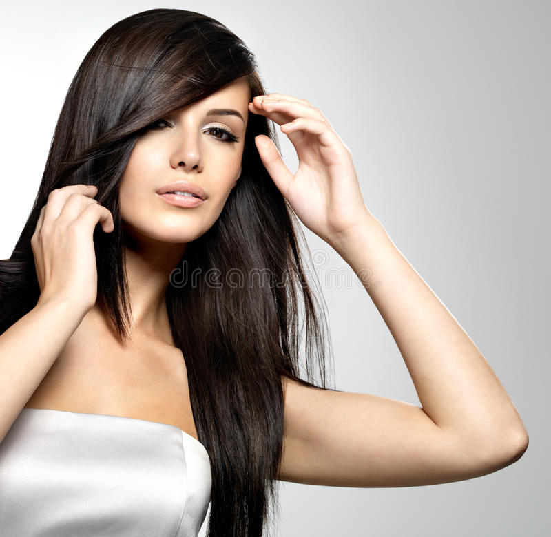 Download Woman With Beauty Long Straight Hair Stock Photos - Image: 27473123