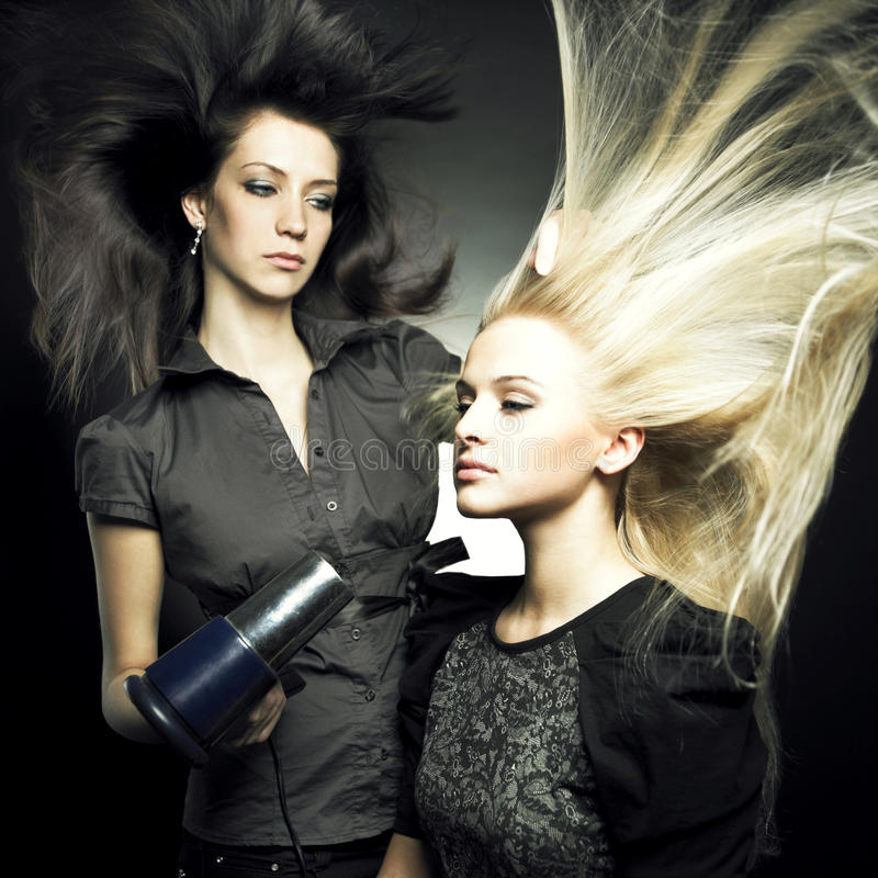 Woman in a beauty salon stock image