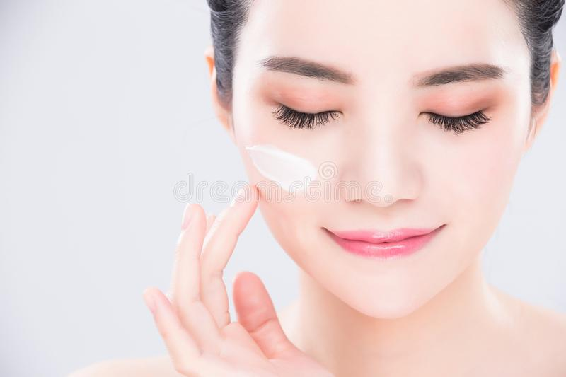 Woman beauty skin care concept stock photography