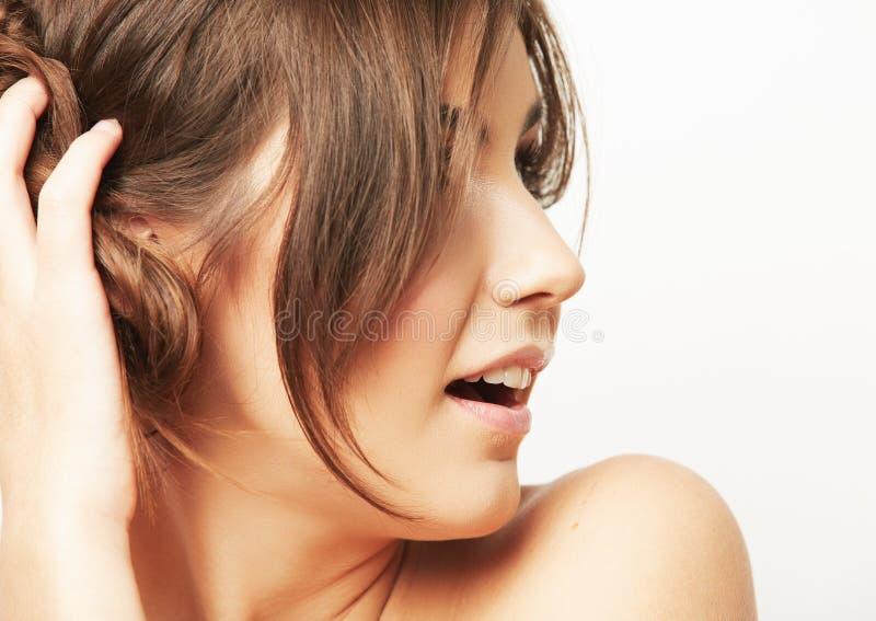 Woman long hair portrait royalty free stock image