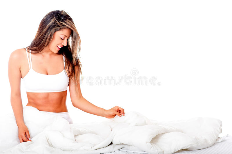 Download Woman in bed stock image. Image of sensuality, background - 25693255