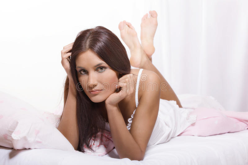 Download Woman On The Bed Royalty Free Stock Photo - Image: 30633205