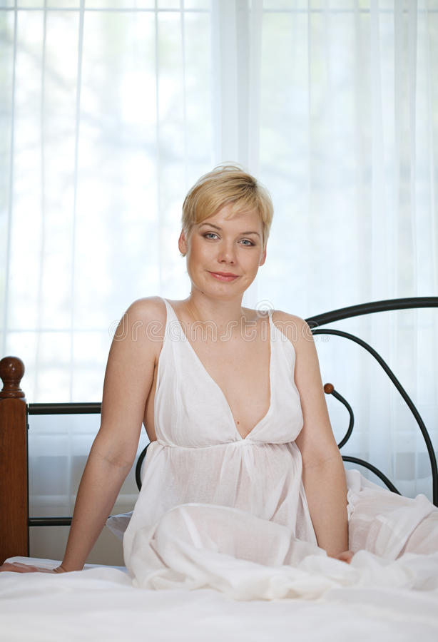 Download Woman in bedroom stock image. Image of fresh, blond, lying - 24545897