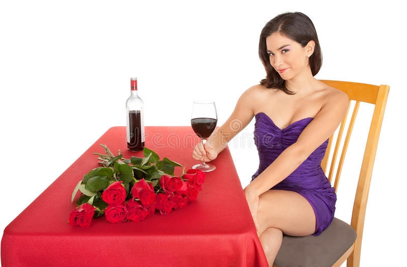 Woman Being Courted by Someone royalty free stock photography