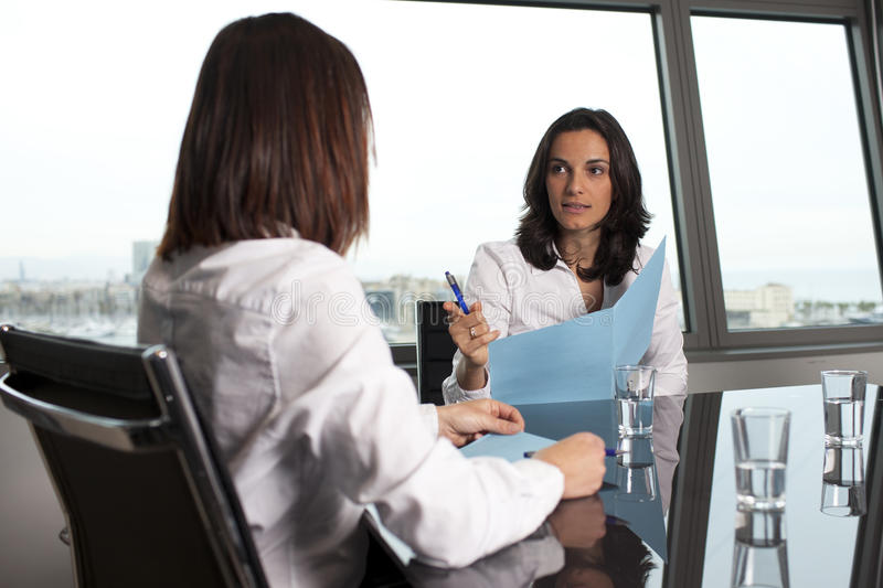 Woman being fired stock photography
