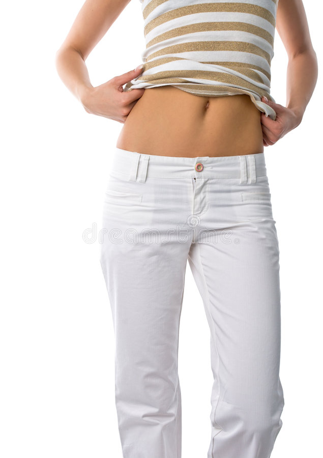 Woman belly stock photo