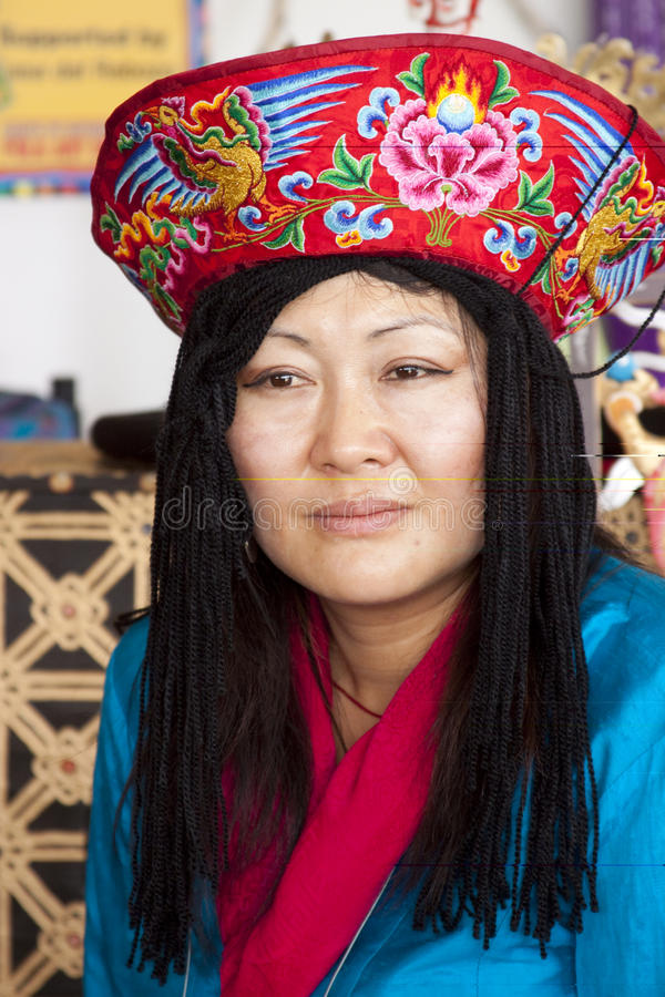 Woman from Bhutan royalty free stock photography