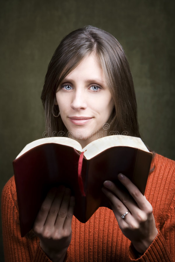 Download Woman with Bible stock photo. Image of serene, reading - 7395998