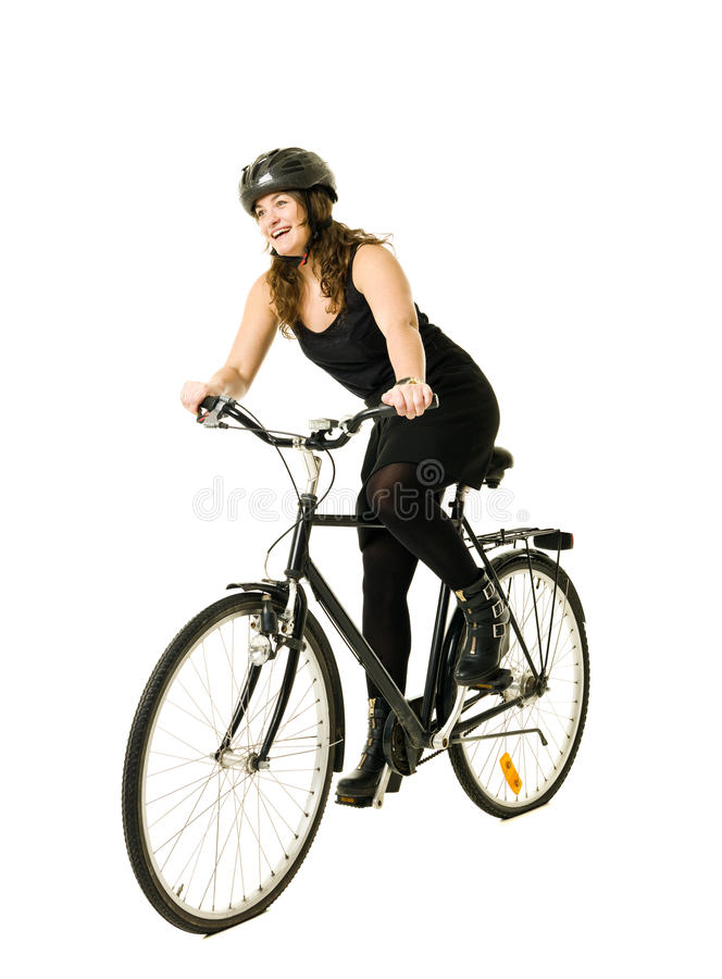 Download Woman on a bicycle stock photo. Image of caucasian, facial - 22650374