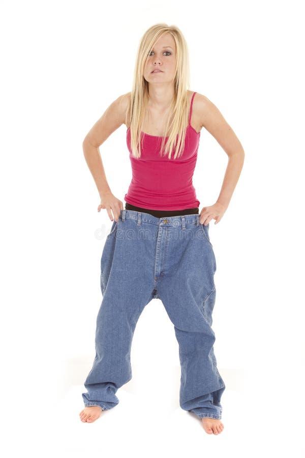 Download Woman Big Pants Worried Look Stock Image - Image of adult, healthy: 18501009