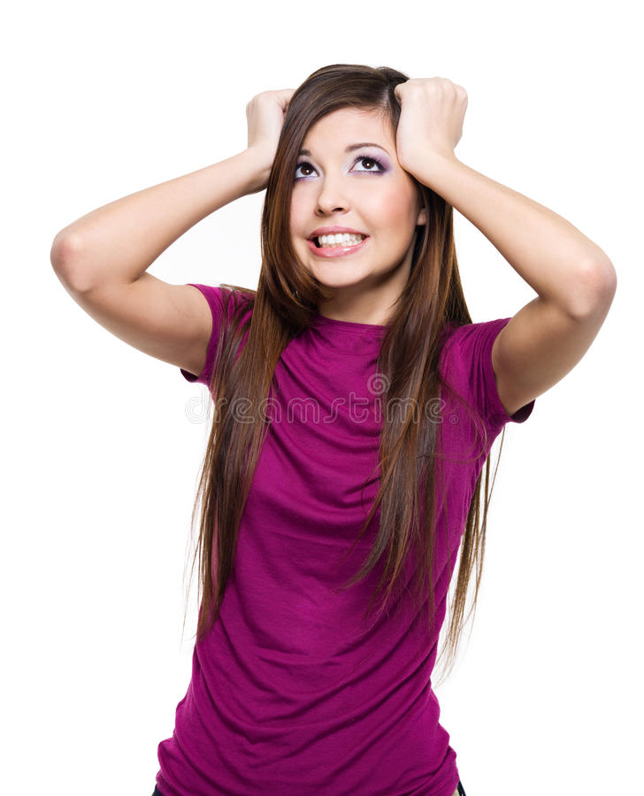 Download Woman With Big Problems Royalty Free Stock Photos - Image: 13775308