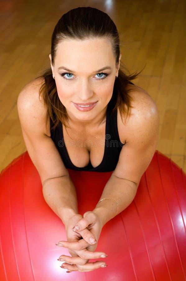 Woman with bih ball royalty free stock image