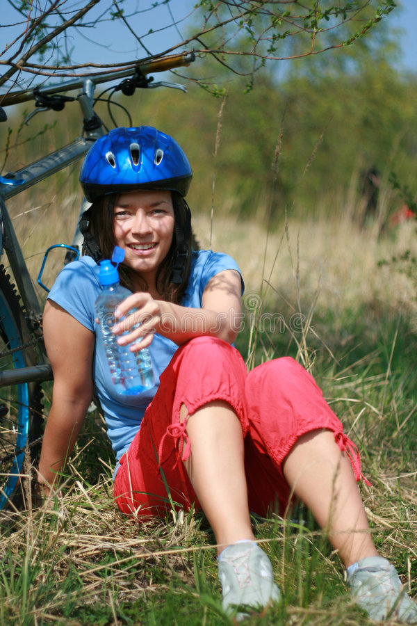 Download Woman And Bike Stock Images - Image: 2311924