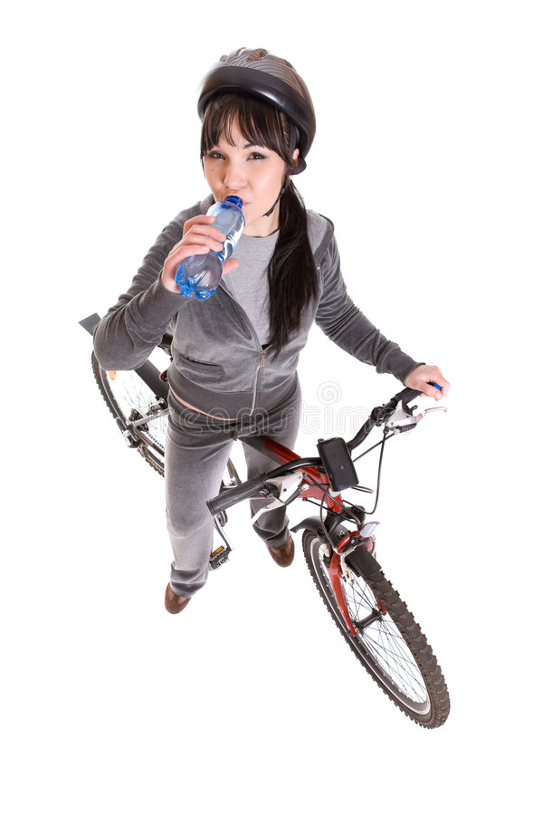 Download Woman on bike stock photo. Image of biking, female, health - 8720452