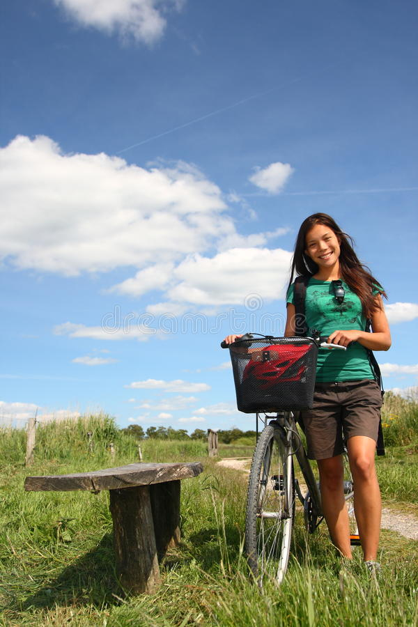 Download Woman with bike in Denmark stock image. Image of green - 9835943