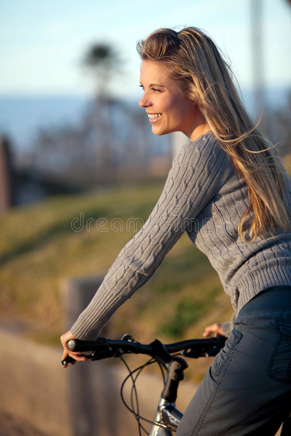 Download Woman bike ride stock photo. Image of people, outdoors - 24831370