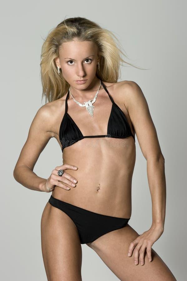 Download Woman in bikini stock photo. Image of beautiful, handsome - 3869426