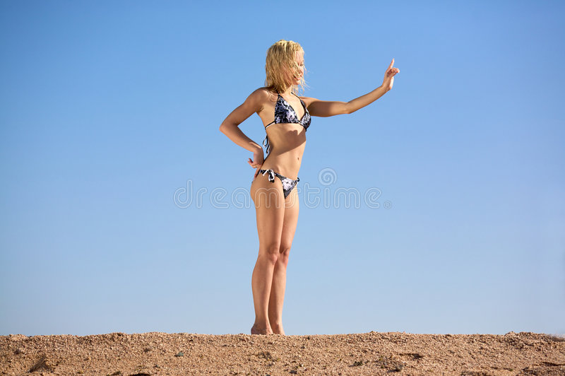 Download Woman in Bikini stock image. Image of outdoors, attractive - 4876211