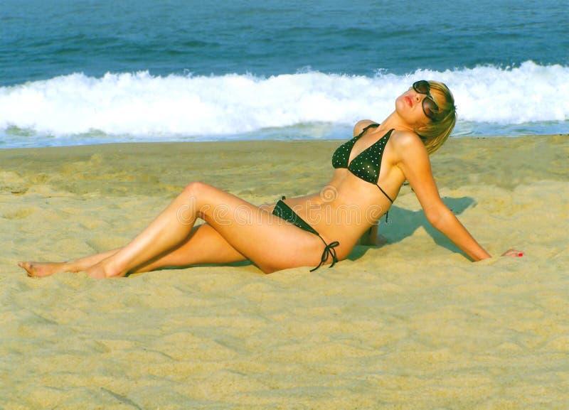 Woman in Bikini royalty free stock photo