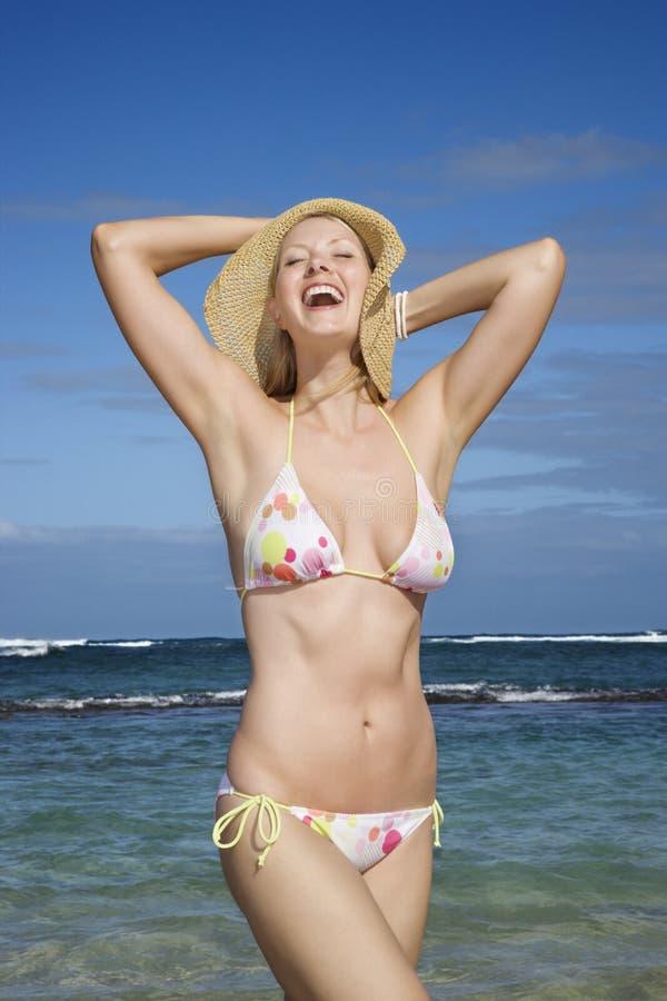 Download Woman in bikini on beach stock photo. Image of female - 2046896