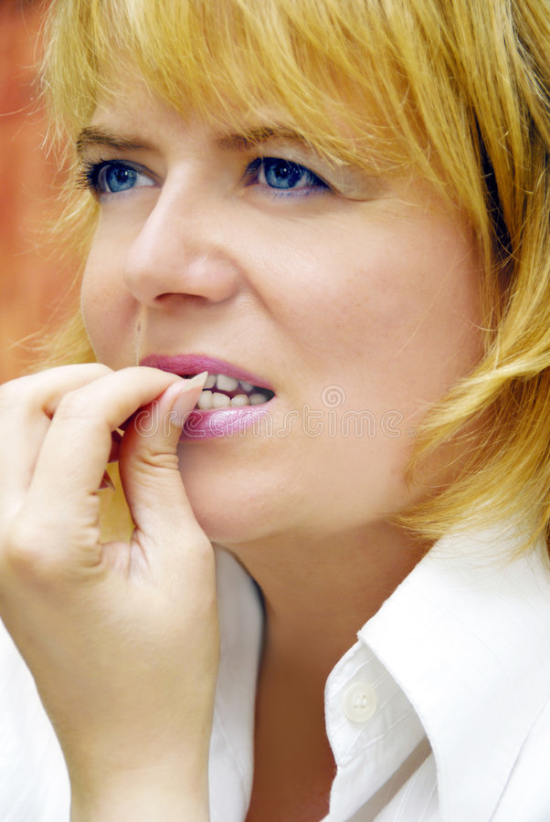 Free Woman Biting Nails Stock Images - 6531064