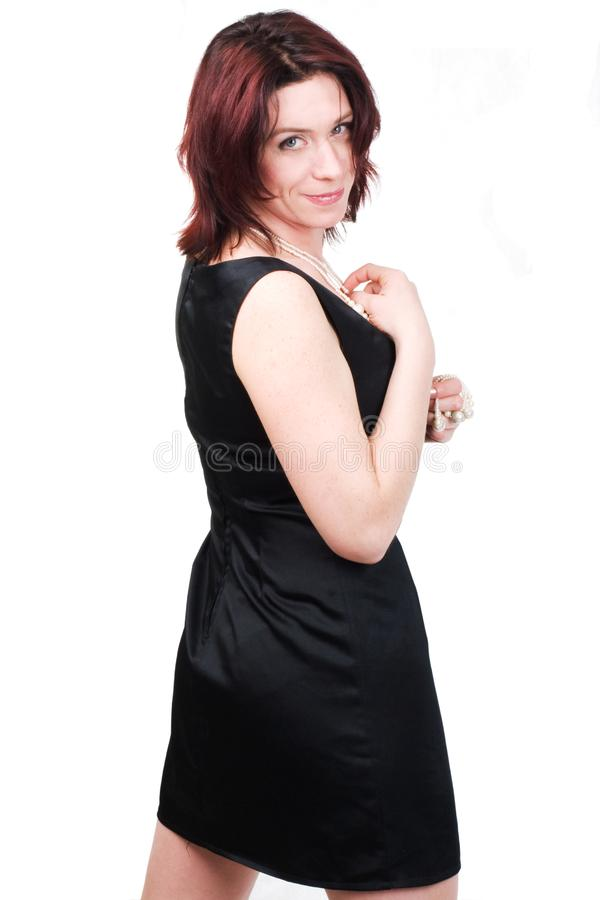 Woman in black royalty free stock photography