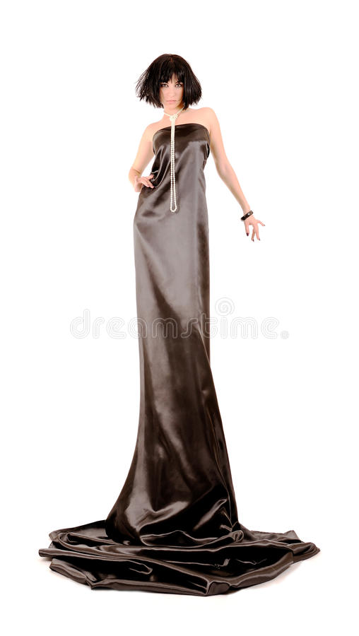 Woman In Black Dress Stock Photography
