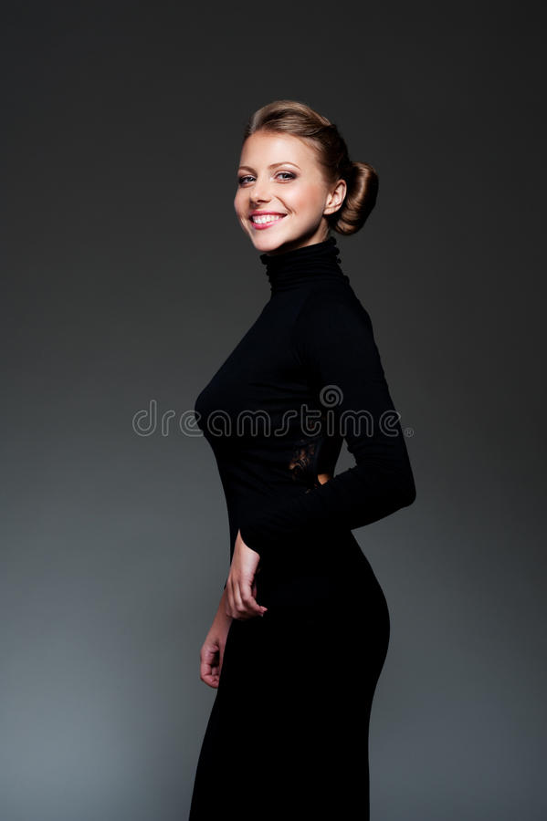 Download Woman in black dress stock image. Image of vogue, female - 27341809