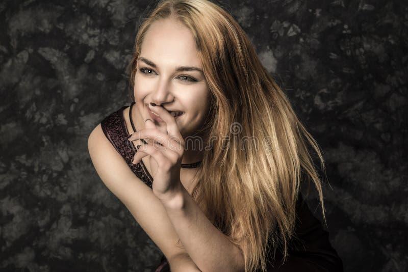 Woman in Black Dress Photo royalty free stock photos