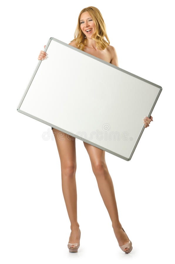 Download Woman With Blank Board Royalty Free Stock Photography - Image: 26272317