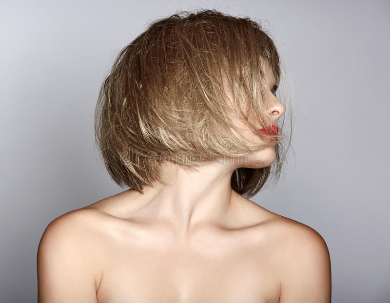 Download Woman with blond bob stock image. Image of pretty, attractive - 25122603