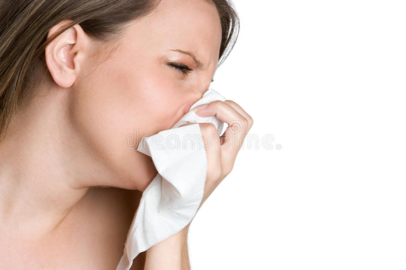 Download Woman Blowing Nose stock image. Image of beautiful, sick - 10656581