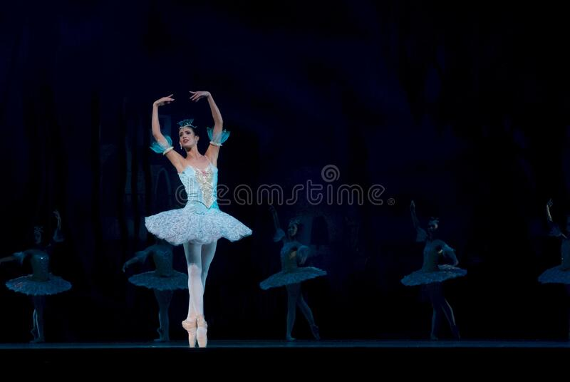 Woman In Blue Ballerina Dress Performing Dance Free Public Domain Cc0 Image