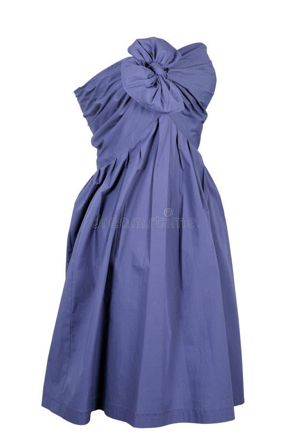 Woman blue dress stock photos