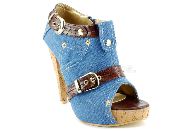 Download Woman Blue Jeans Shoe Royalty Free Stock Images - Image: 14489729